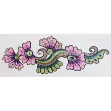 Adhesivo temporal respetuoso del medio ambiente del tatuaje del polvo del brillo