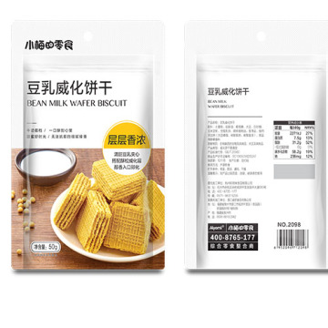 Biscotto wafer al latte di fagioli