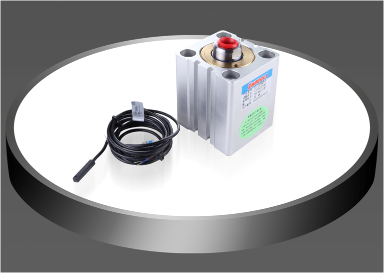 Magnetic induction oil cylinder