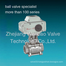 Stainless Steel 3PC Electric Ball Valve