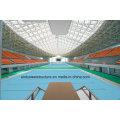Vorgefertigte verzinkte leichte Stahl Space Frame Schwimmbad Dachdecker