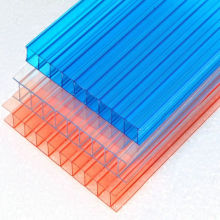 Clear crystal polycarbonate hollow roofing sheet panels 8 mm polycarbonate twin wall for greenhouse