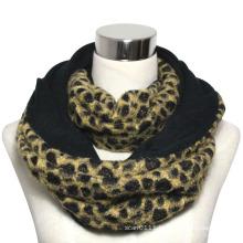 Lady Fashion Polyester Leopard Infinity Scarf (YKY4367)