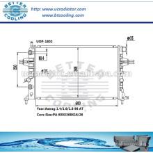 Radiateur / Radiateur Opel Astra pour Opel Astra-g 1.4 / 1.6 / 1.8 98 AT