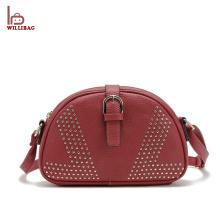 Mais recente bolsa de bolsa de mulher Vintage PU couro senhora bolsa de ombro