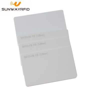 125 kHz TK4100 rfid-kaart Smart Cards PVC Blanco