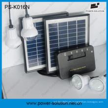 Sistema casero Solar portátil con 4 bombillas de LED