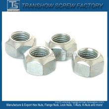 Size M8 DIN980V Carbon Steel All Metal Lock Hex Nut