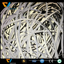alta costura visível preto 3m tubulação reflexiva de tecido