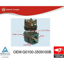 Original YUCHAI engine YC4G air compressor G0100-3509100B for Chinese truck