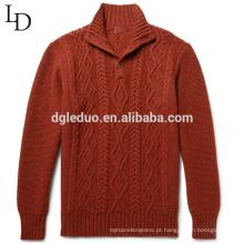 Alta qualidade 100% merino lã oversized pulôver de gola alta para homens