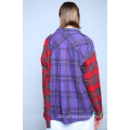 CONTRASTING FLANNEL CHECKED SHIRT