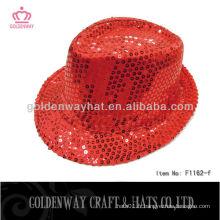 Hot sale chapeau de fête de magicien rouge pour adulte