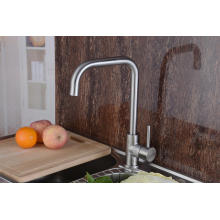 304 Stainless Steel Kitchen Sink Faucet Single Handle Robinet (HS15005)