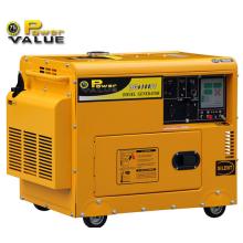 Billiger chinesischer tragbarer 5kw Dieselgenerator-Hersteller, stiller kleiner Dieselgenerator 5kVA, Mini-Generator-Energie