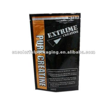 Bolsas de cremallera de papel de aluminio ecológicas para el paquete de creatina pura