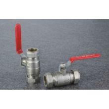 Válvula de bola válvula de bola roja de aislamiento 15mm a 25mm