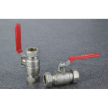 ball valve red lever isolating ball valve 15mm to 25mm