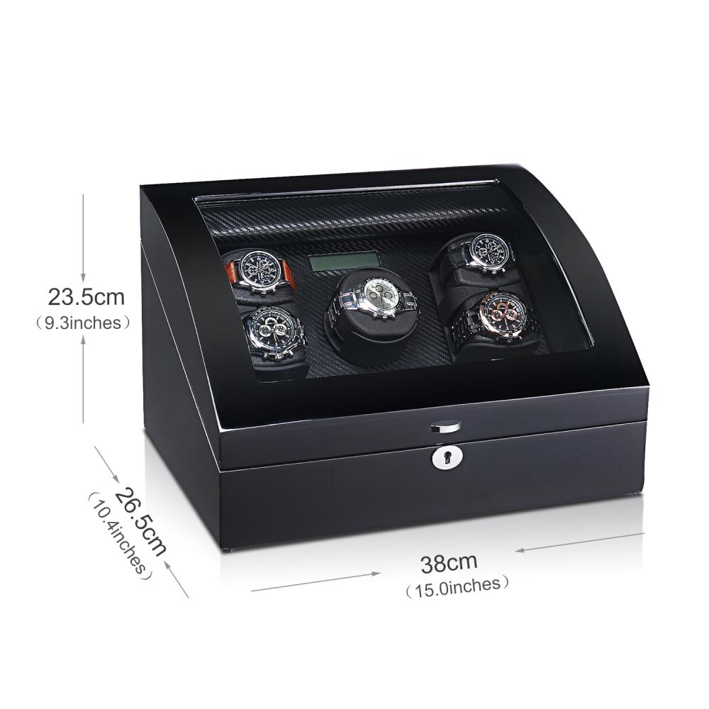 Ww 8178 Watch Winder 3 Rotors Black Carbon Fiber