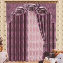 2015 latest curtain fashion designs cheap jacquard blackout fabric curtain