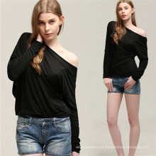 Hot Sale Fashion Batwing Sexy Women Blouse Tops (50176)