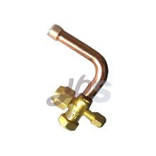 Valve de service de climatisation en laiton de haute qualité