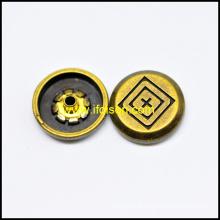 Anti. laiton couleur bouton Snap pour accessoires de vêtement