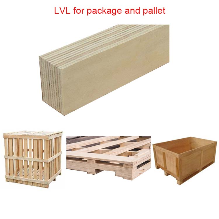 4x8ft poplar lvl packing plywood laminated veneer wooden lumber for making pallets