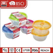 Runde. Mikrowelle-Lebensmittel-Container (1,5 L 2ST)