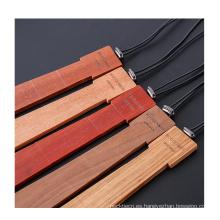 Corbata de lujo para hombre Corbata artesanal de madera y corbata hexagonal