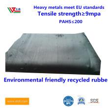Black Tire Rubber, Natural Environmental Friendly Odorless Rubber, Recycled Rubber, Tire Rubber