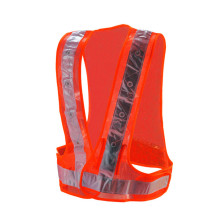 Orange traffic reflective led security vest