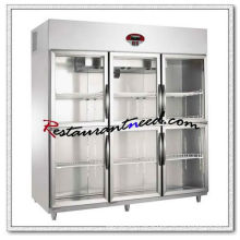 R298 6 Glass Doors Luxurious Fancooling Reach-In Kitchen Refrigerator
