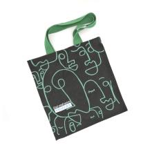 Bolsos de mano de encargo de las compras de la lona del modelo de la pintura abstracta