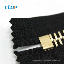 Factory wholesale high quality hardware accessories custom designer size Y shape brass zipper pin and box zipper top stop