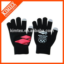 Fashion acrylic knitted custom touching gloves