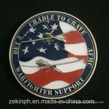 Günstige benutzerdefinierte Emaille USA Armee Metall Herausforderung Münzen