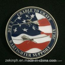 Cheap Custom Enamel USA Army Metal Challenge Coins