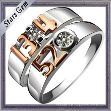Forever Love 925 Sterling Silver Moda Casamento Casal Jóias Anel