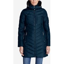 Fur Hood Ladies Down Parka Coat