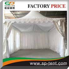 White or beige or black pleated Satin Tents Linings for All kinds of Tents types and sizes made by Songpin Tent