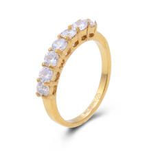 Anillo de bodas de oro del anillo de las mujeres de la CZ de 18K chapado en oro