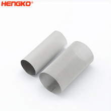 Big batches powder sintering multilayer 304 316 316L stainless steel wire mesh water filter cartridge for chemical equipment