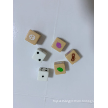 Roal play board game dice with snake, Skull Head and Nut etc on