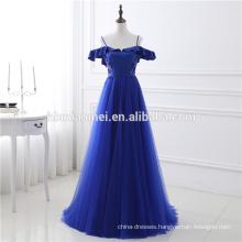 2017 Top Quality Luxury Royal Blue Backless Spaghetti Strap Sequins Chiffon Evening Dress