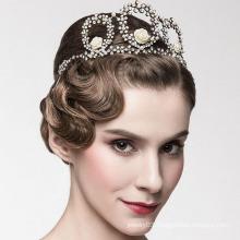 Europe Crown Tiaras Jewelry Tall pageant Crown 14k White Gold Diamond Ring Tiaras