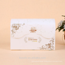 Frosted PVC packaging box for face towel with custom logo printing