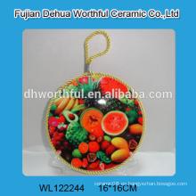 Sostenedores decorativos de cerámica personalizados del pote con la cuerda para colgar
