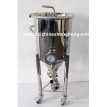 Fermentador cônico de aço inoxidável Equipamento de fabricação de cerveja Tanque de fermentação