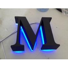 Lettres poli brossé Vintage métal affichage rétro-éclairé LED enseignes lettres 3D canal lumineux pour publicité personnalisée